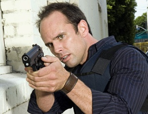 Walton Goggins, who should maybe be concerned over the number of times he's been cast as the dummy racist hick