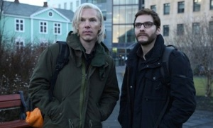 Benedict Cumberbatch and Daniel Bruhl in The Fifth Estate